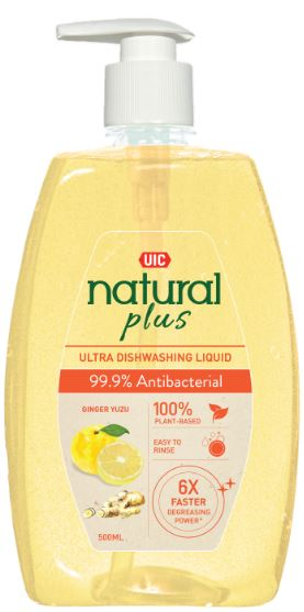 UIC Natural Plus Ultra Dishwashing Liquid (99.9% Anti-Bacterial)