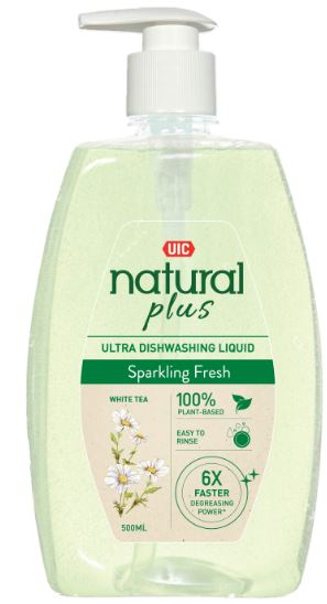 UIC Natural Plus Ultra Dishwashing Liquid (Sparkling Fresh)